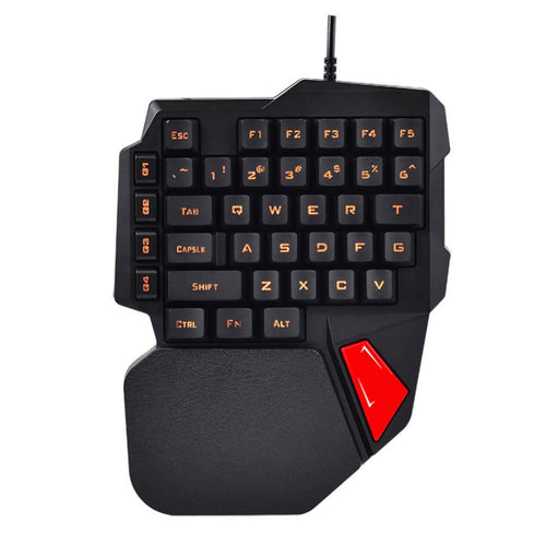 Gaming Keyboard K108 Mechanical One-Handed Keyboard For PUGB Mobile Game Left Hand Small Keyboard dropship 8.27