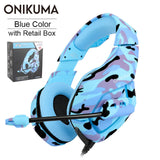 ONIKUMA K1 PS4 Gaming Headset casque Wired PC Stereo Earphones Headphones with Microphone for New Xbox One/Laptop Tablet Gamer