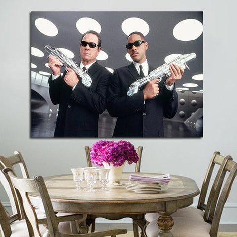 1 Panel Agent K And Agent J In Men In Black Wall Art Canvas