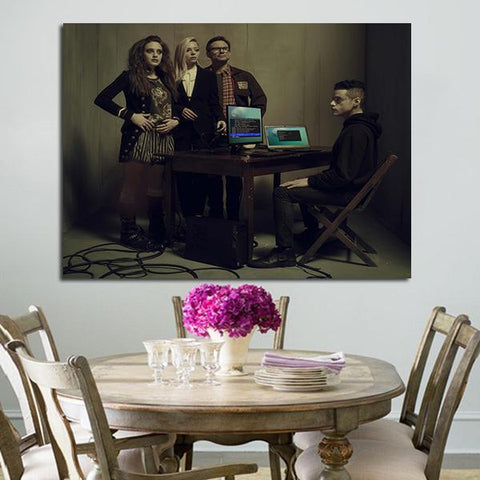 1 Panel Characters In Mr Robot Season 2 Wall Art Canvas
