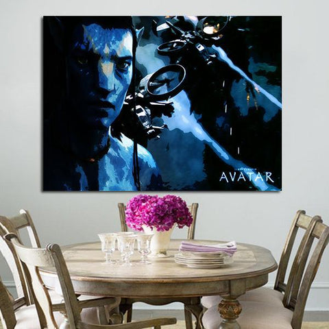 1 Panel Avatar Jake Sully Printed Wall Art Canvas