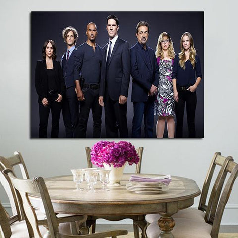 1 Panel Criminal Minds The Main Characters Wall Art Canvas