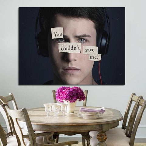 1 Panel Clay Jensen Character Wall Art Canvas