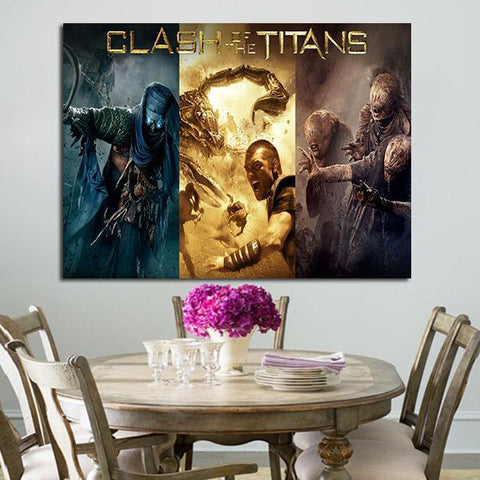 1 Panel Clash Of The Titans Wall Art Canvas
