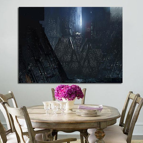 1 Panel Blade Runner 2049 Los Angeles By Night Wall Art Canvas