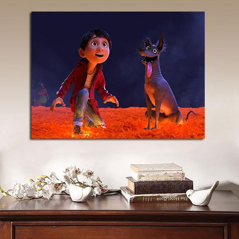 1 Panel Coco Miguel And Dante Wall Art Canvas