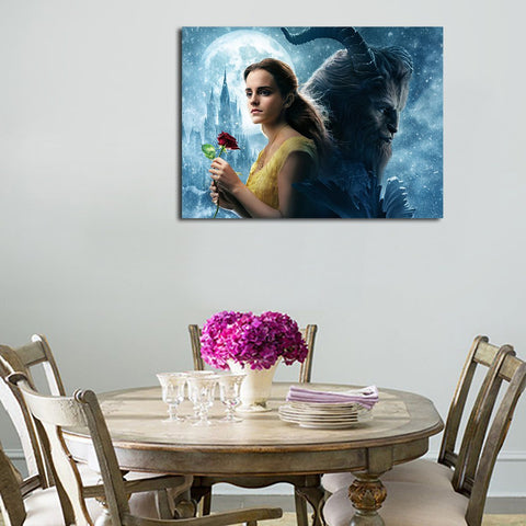 1 Panel Beauty And The Beast Belle And Beast Wall Art Canvas