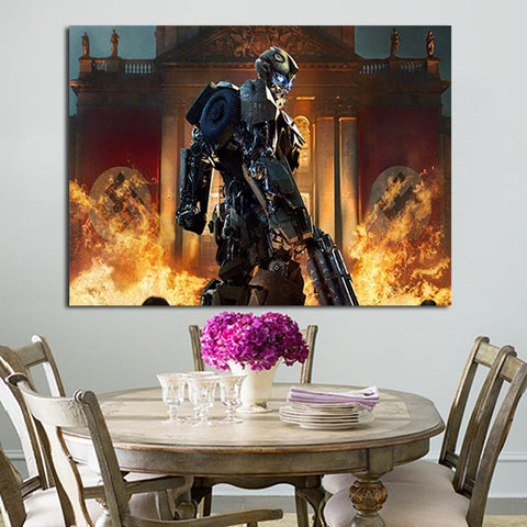 1 Panel Bumblebee Fights Nazis In New Transformers Wall Art Canvas