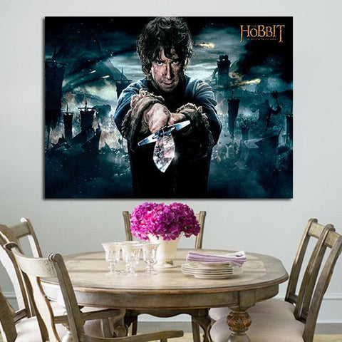 1 Panel Bilbo Baggins Holds Sting Sword Wall Art Canvas