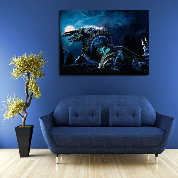 Monster Hunter Zinogre Wall Art Canvas