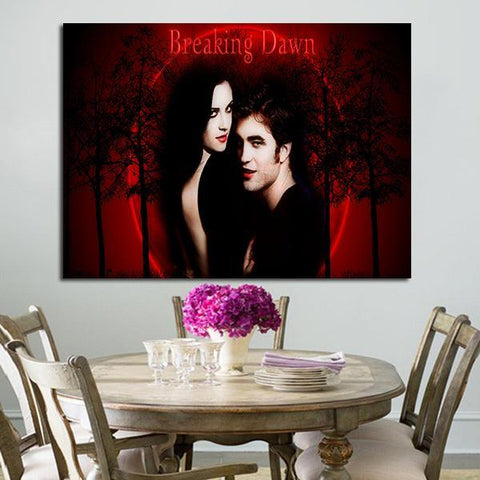 1 Panel Breaking Dawn Bella And Edward Wall Art Canvas