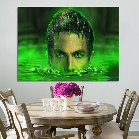 1 Panel Arrow Lazarus Pit Oliver Queen Face Wall Art Canvas
