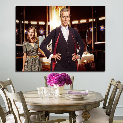 1 Panel Clara And The 12th Doctor Wall Art Canvas