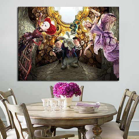 1 Panel Alice Through The Looking Glass Wall Art Canvas