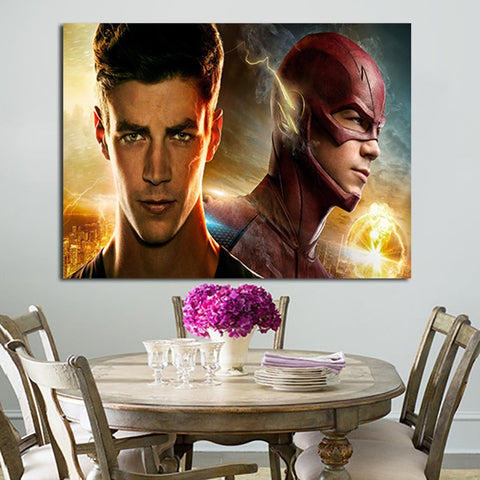 1 Panel The Flash Grant Gustin Wall Art Canvas