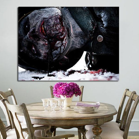 1 Panel Dead Snow Zombie Wall Art Canvas