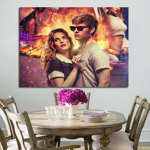 1 Panel Baby Driver Debora And Baby Wall Art Canvas