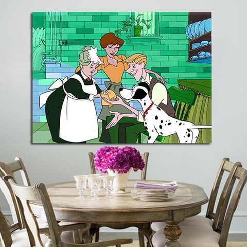 1 Panel 101 Dalmatians Pongo In House Of Roger Wall Art Canvas