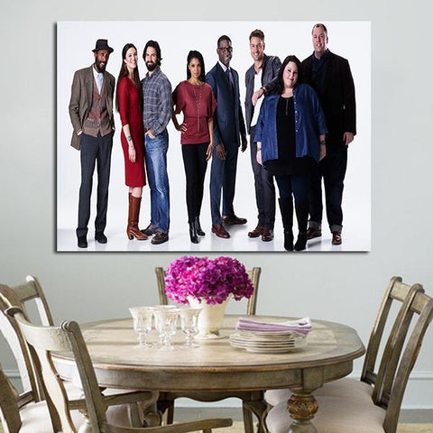 1 Panel Characters of This is Us Wall Art Canvas
