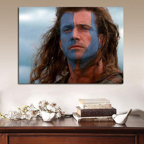 1 Panel Braveheart William Wallace Mel Gibson Wall Art Canvas