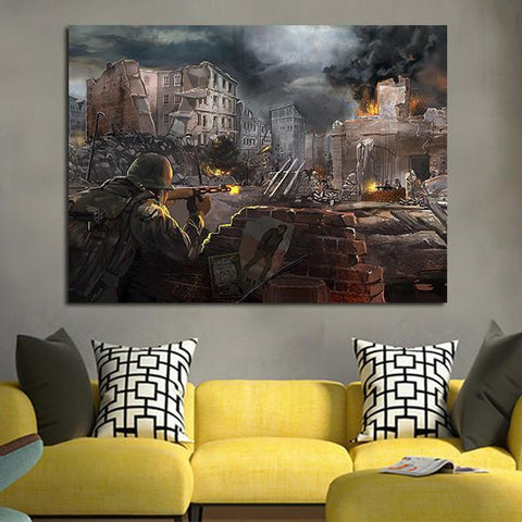 1 Panel Call Of Duty Background Wall Art Canvas