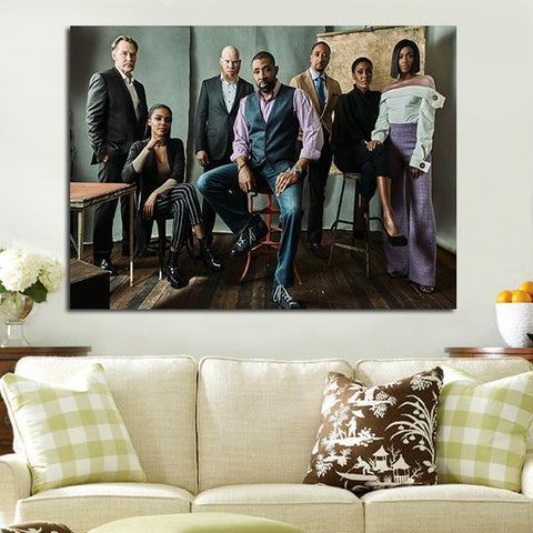 1 Panel Black Lightning Characters Wall Art Canvas