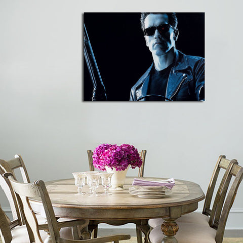 1 Panel Arnold Terminator Background Wall Art Canvas