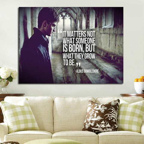 1 Panel Albus Dumbledore Quote Wall Art Canvas