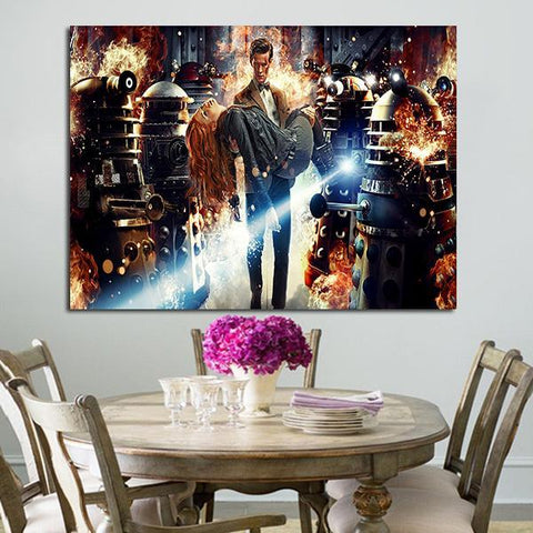 1 Panel Doctor Who Asylum Of The Daleks Wall Art Canvas