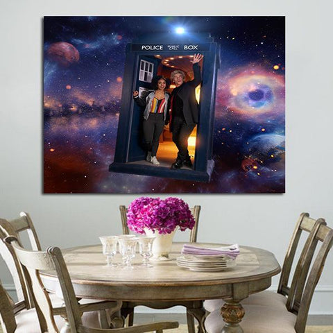 1 Panel Doctor Who Bill And Twelfth Doctor Wall Art Canvas