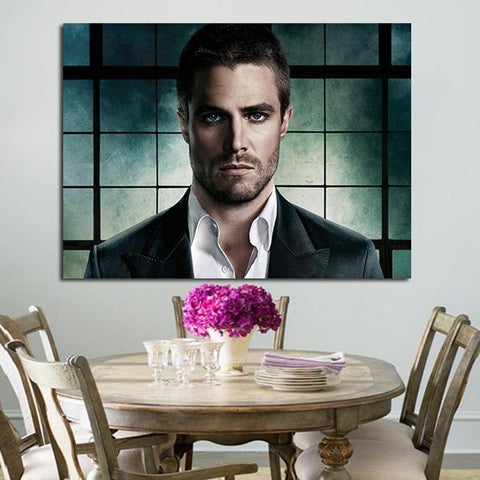 1 Panel Arrow Stephen Amell Oliver Queen Wall Art Canvas