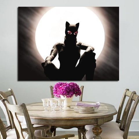 1 Panel Catwoman Selina Kyle And The Moon Wall Art Canvas