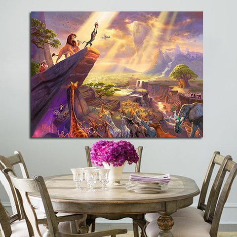 1 Panel Animals In The Lion King Wall Art Canvas
