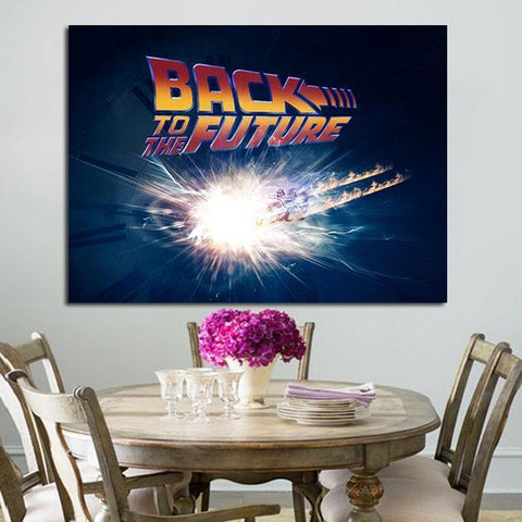 1 Panel Back To The Future Wall Art Canvas