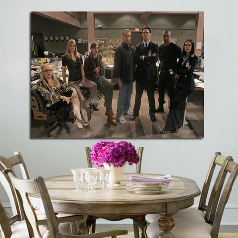 1 Panel Criminal Minds Characters In Office Wall Art Canvas