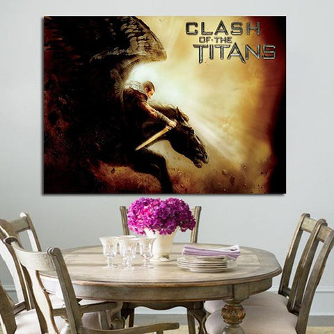 1 Panel Clash Of The Titans Perseus Hides Horse Wall Art Canvas
