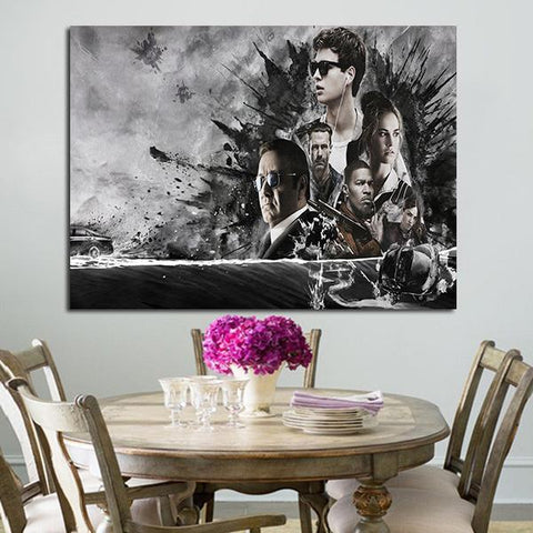 1 Panel Baby Driver Characters Wall Art Canvas