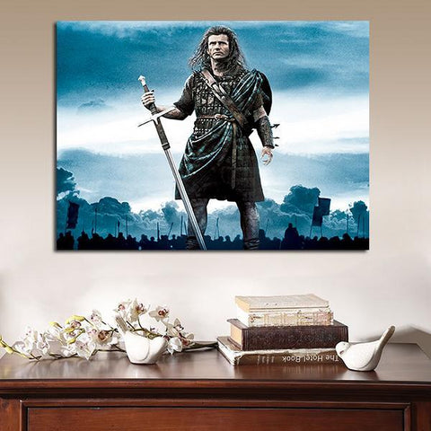 1 Panel Braveheart William Wallace Standing Wall Art Canvas