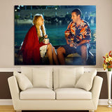 1 Panel 50 First Dates Adam Sandler And Drew Barrymore In The Boat Wall Art Canvas