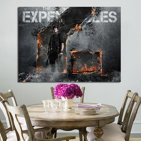 1 Panel Barney Ross Character In Expendables 2 Wall Art Canvas