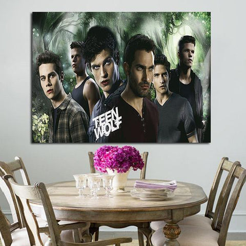 1 Panel Boys In Teen Wolf Wall Art Canvas