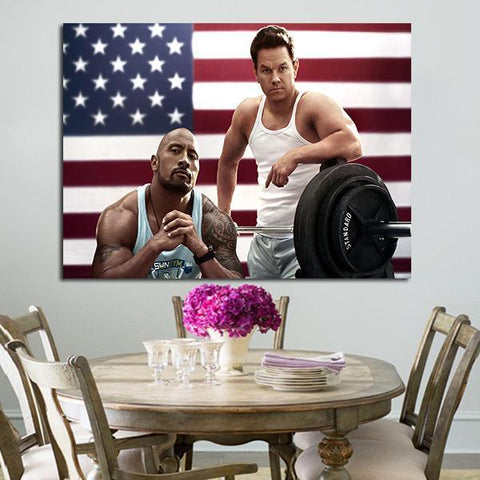 1 Panel Daniel Lugo And Paul Doyle In Pain And Gain Wall Art Canvas