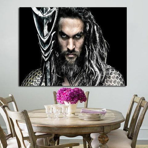 1 Panel Aquaman With Trident Wall Art Canvas