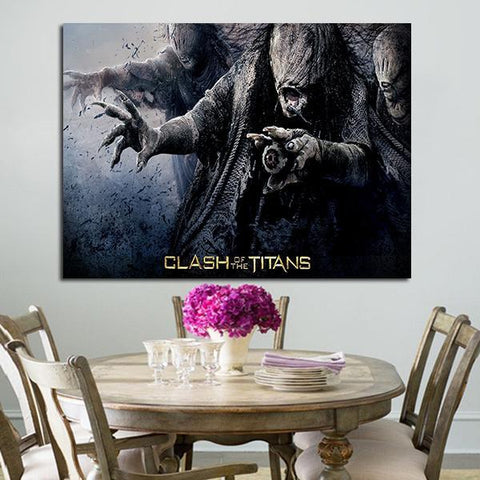 1 Panel Clash Of The Titans Witches Wall Art Canvas