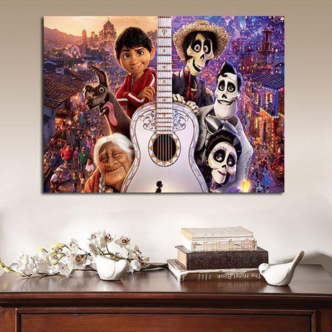 1 Panel Coco Characters Wall Art Canvas