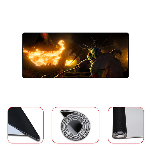 Valka And Fire Dragon Mousepad