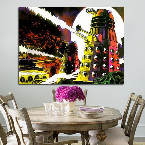 1 Panel Doctor Who Dalek Exterminate Omnibus Wall Art Canvas