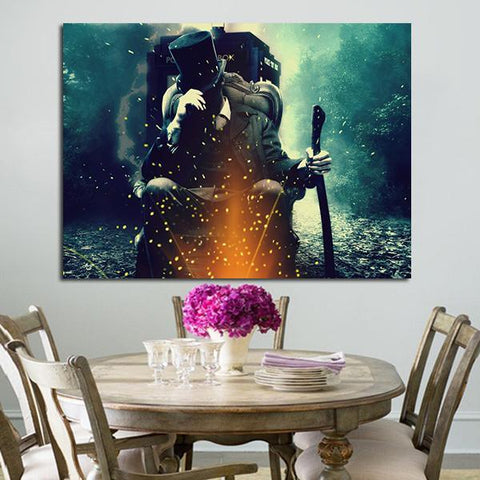 1 Panel Doctor Who Abe Lincoln Vampire Hunter Wall Art Canvas