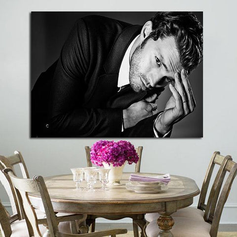 1 Panel Christian Grey Black And White Wall Art Canvas