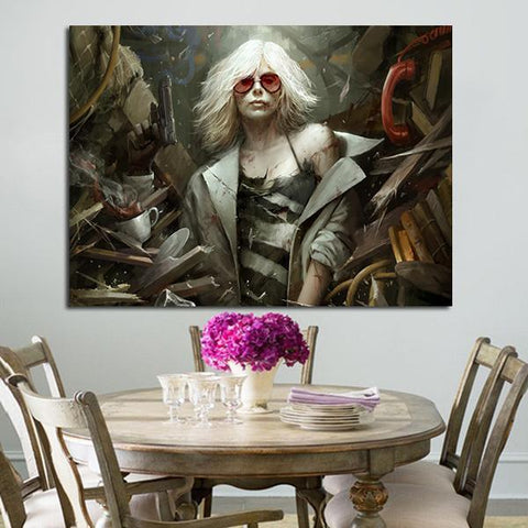 1 Panel Atomic Blonde Wall Art Canvas
